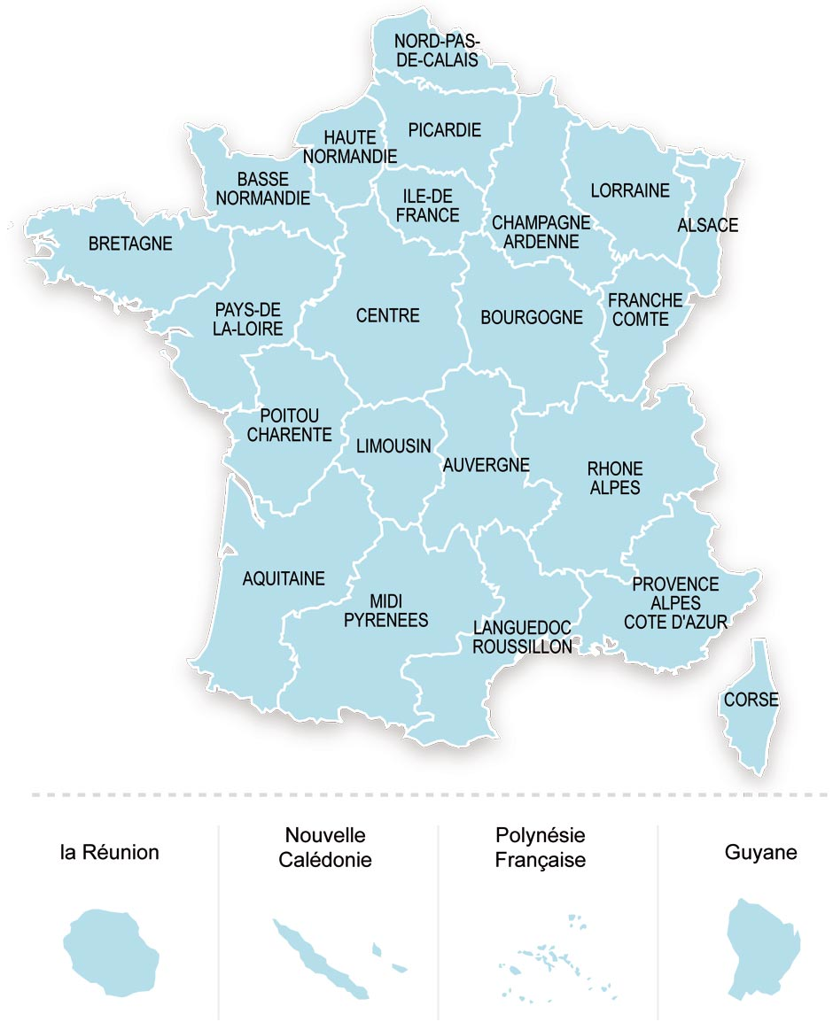 Carte de France des établissements