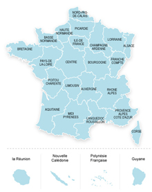 lien vers carte de France des établissements